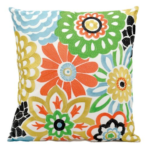 Mina Victory Floral Throw Pillow - Indoor / Outdoor