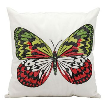 Mina Victory Butterfly Throw Pillow - Indoor / Outdoor