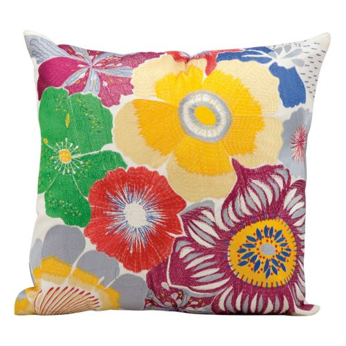 Mina Victory Bright Floral Throw Pillow – Indoor / Outdoor