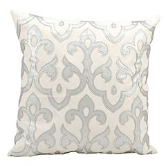 Mina Victory Luminescence Fluer De Lis Throw Pillow