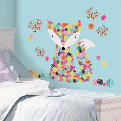 Prismatic Fox Peel and Stick Giant Wall Decal Set