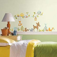 Woodland Fox & Friends Peel & Stick Wall Decal Set