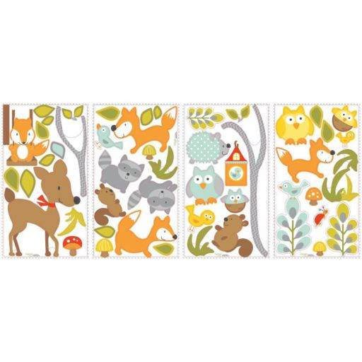Woodland Fox and Friends Peel and Stick Wall Decal Set