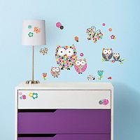 Prisma Owls & Butterflies Peel & Stick Wall Decal Set