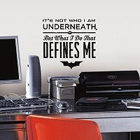 Batman Quote Peel & Stick Wall Decal