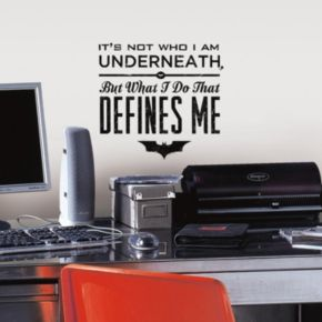 Batman Quote Peel and Stick Wall Decal