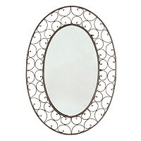 Scroll Oval Wall Mirror
