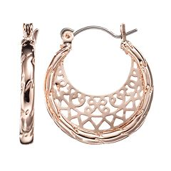 LC Lauren Conrad Filigree Hoop Earrings