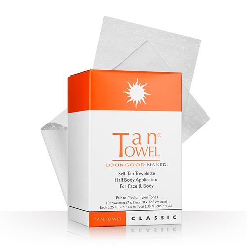 TanTowel 10-pk. Classic Self-Tan Towelettes Half Body Application pantip