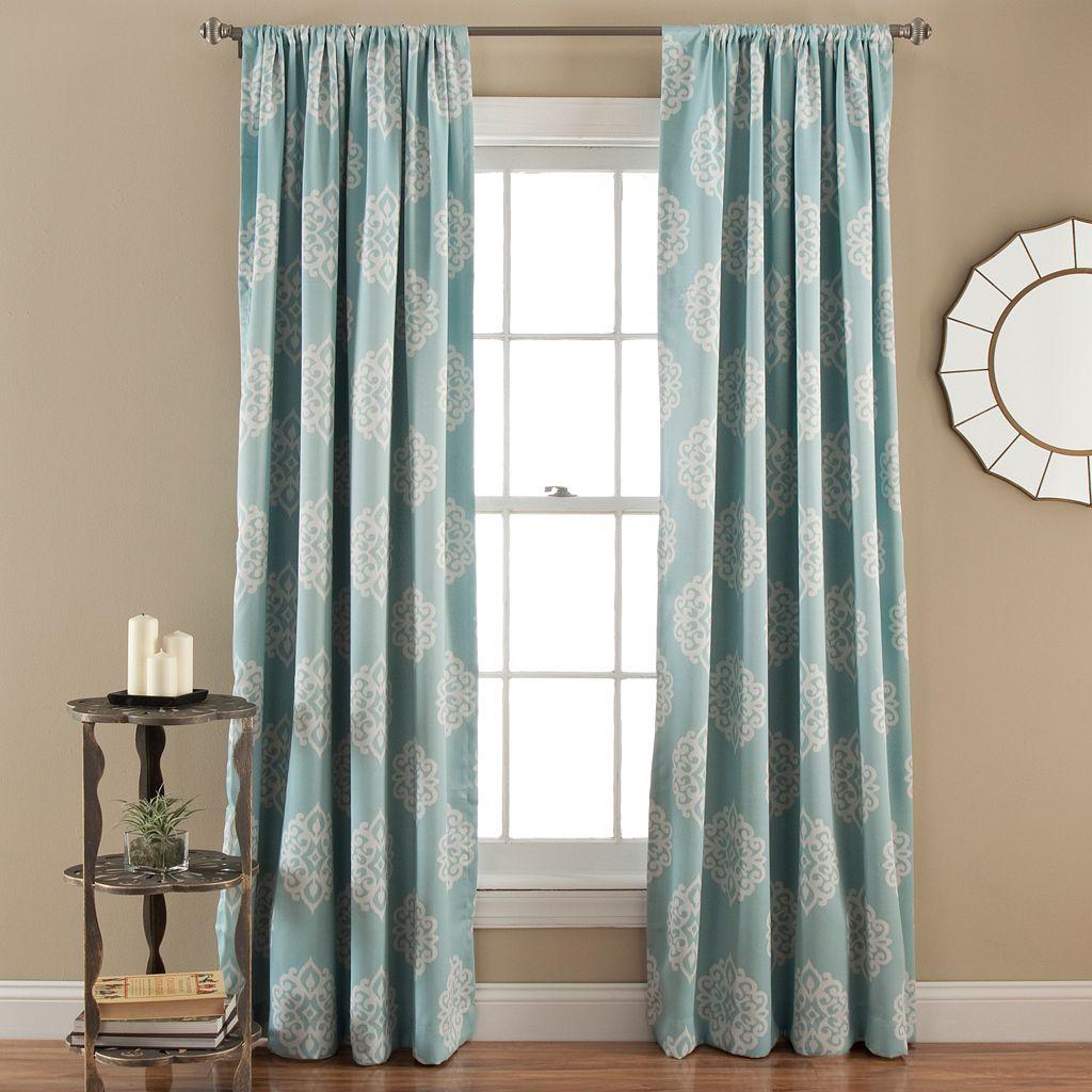 Lush Decor Sophie Blackout Window Curtain Pair - 52'' x 84''