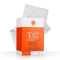 TanTowel 10 pkPlus Self-Tan Towelettes Half Body Application