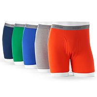Men's Hanes Ultimate 5-pack Exposed Waistband Boxer Brief