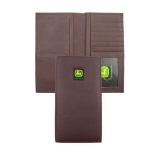 John Deere Leather Checkbook Wallet - Men