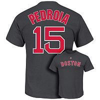 Majestic Boston Red Sox Dustin Pedrioa Player Name and Number Tee - Men