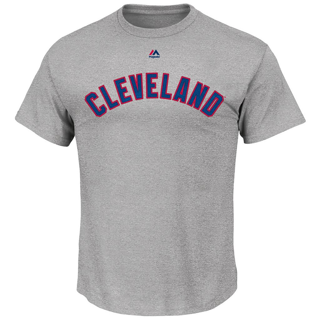 Men's Majestic Cleveland Indians Michael Brantley Player Name and Number Tee