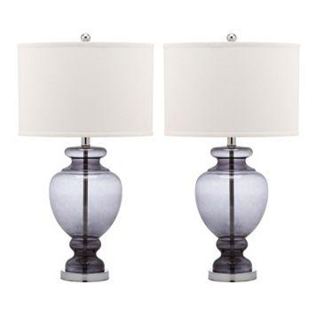 Safavieh 2-piece Glass Table Lamp Set