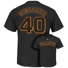 Men's Majestic San Francisco Giants Madison Bumbarner Player Name and Number Tee
