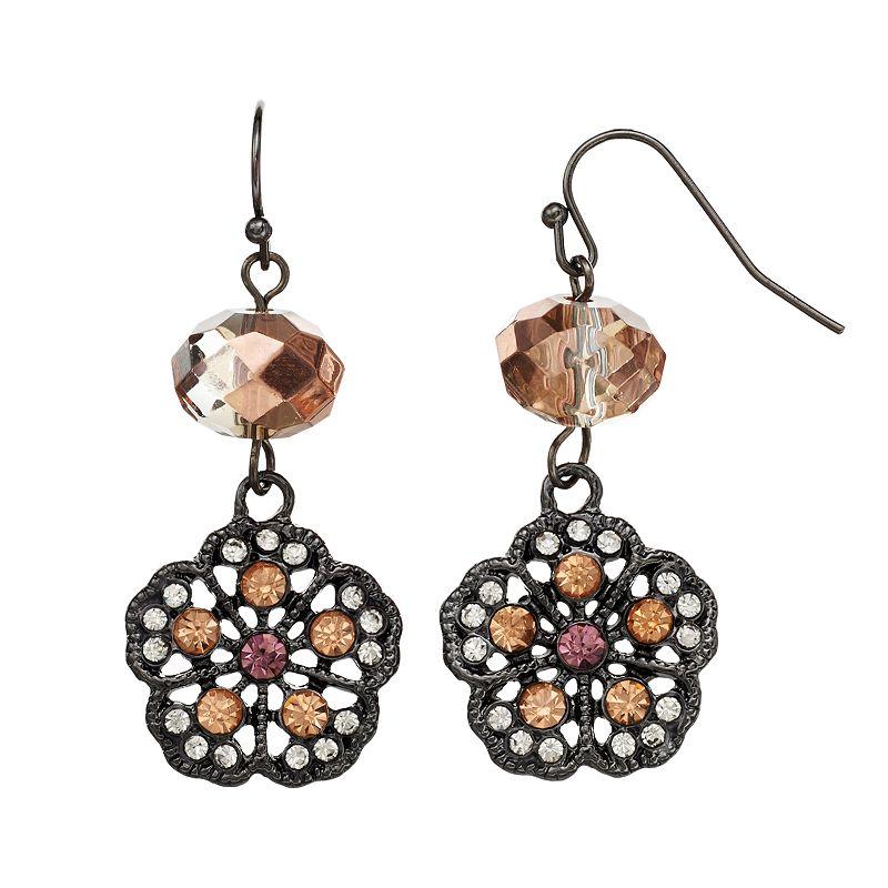 Simply Vera Vera Wang Bead & Flower Drop Earrings