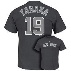 Men's Majestic New York Yankees Masahiro Tanaka Player Name and Number Tee