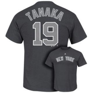 Men's Majestic New York Yankees Masahiro Tanaka Player Name and Number Tee