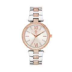 Jennifer Lopez Women's Crystal Two Tone Watch
