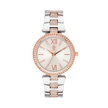 Jennifer Lopez Women's Crystal Two Tone Watch