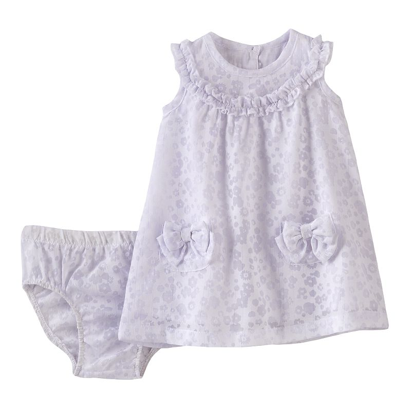 Quiltex Ruffle Flower Burnout Dress - Baby Girl