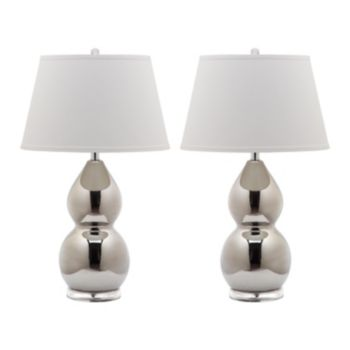 Safavieh 2-piece Jill Double Gourd Table Lamp Set
