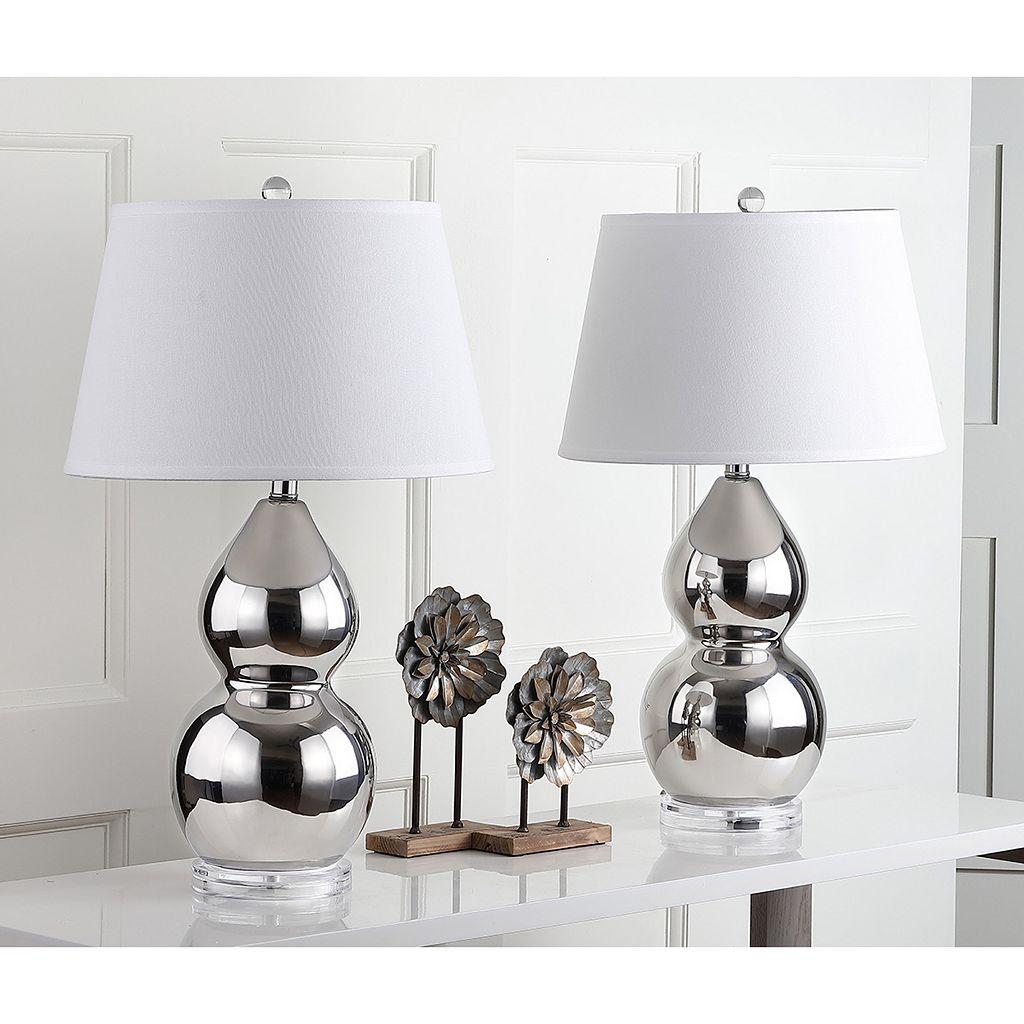 Safavieh 2-piece Jill Double Gourd Table Lamp Set