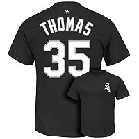 Men's Majestic Chicago White Sox Frank Thomas Cooperstown Collection Player Name and Number Tee