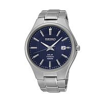 Seiko Men's Titanium Solar Watch - SNE381