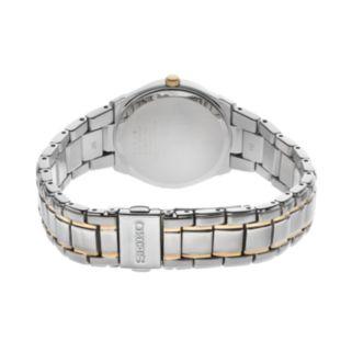 Seiko Women's Two Tone Stainless Steel Solar Watch - SUT214