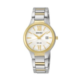 Seiko Women's Two Tone Stainless Steel Solar Watch - SUT210