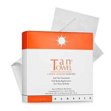 TanTowel 5-pk. Classic Self-Tan Towelettes Full Body Application