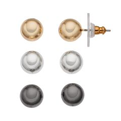 Napier Ball Stud Earring Set