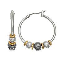 Napier Bead Hoop Earrings