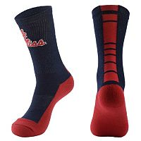 Men's Mojo Ole Miss Rebels Champ 1/2-Cushion Performance Crew Socks