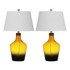 Safavieh 2-piece Antiquarian Glass Table Lamp Set