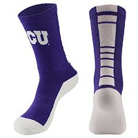 Men's Mojo TCU Horned Frogs Champ 1/2-Cushion Performance Crew Socks