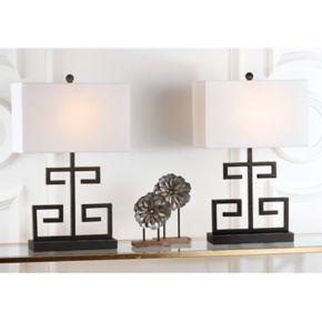 Safavieh 2-piece Greek Key Table Lamp Set