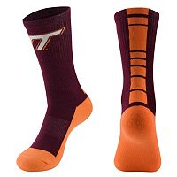 Men's Mojo Virginia Tech Hokies Champ 1/2-Cushion Performance Crew Socks