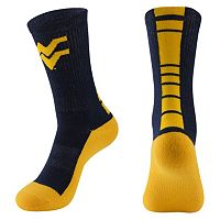 Men's Mojo West Virginia Mountaineers Champ 1/2-Cushion Performance Crew Socks