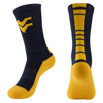 Men's Mojo West Virginia Mountaineers Champ 1/2-Cushion Performance Crew Socks
