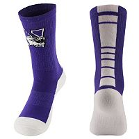 Men's Mojo Northwestern Wildcats Champ 1/2-Cushion Performance Crew Socks