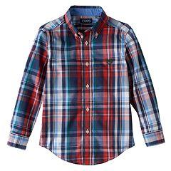 Boys 4-7 Chaps Plaid Button-Down Shirt