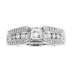 14k White Gold 1-ct. T.W. Diamond Holiday Ring from kohls.com