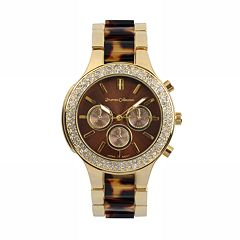 Journee Collection Women's Tortoise Shell Stainless Steel Watch