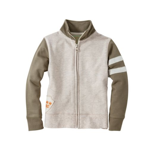 Baby Boy Burt's Bees Baby Organic French Terry Racing Stripe Jacket