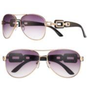 ELLE™ Chain-Link Aviator Sunglasses - Women