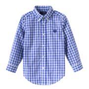 Chaps Woven Plaid Button-Down Shirt - Toddler Boy